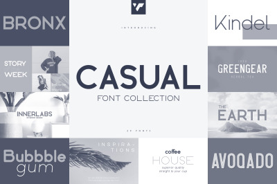 Casual Font Collection - 29 fonts