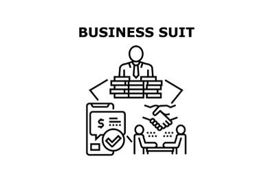 Business Suit Vector Concept Black Illustration
