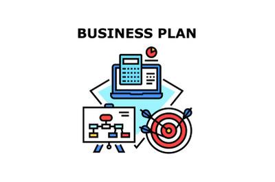Business Plan Vector Concept Color Illustration