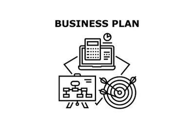 Business Plan Vector Concept Black Illustration