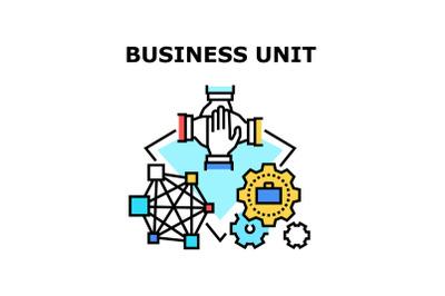 Business Unit Vector Concept Color Illustration