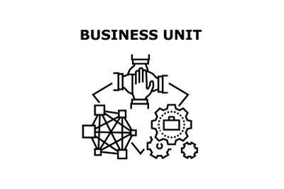Business Unit Vector Concept Black Illustration