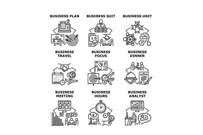 Business Planning Set Icons Vector Illustrations