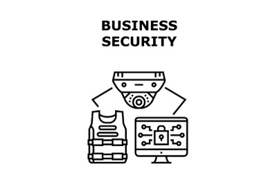 Business Security Device Vector Concept Color