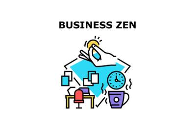 Business Zen Vector Concept Color Illustration
