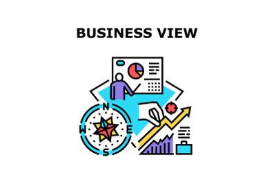 Business View Vector Concept Color Illustration