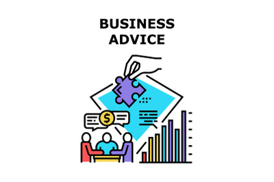 Business Advice Vector Concept Color Illustration