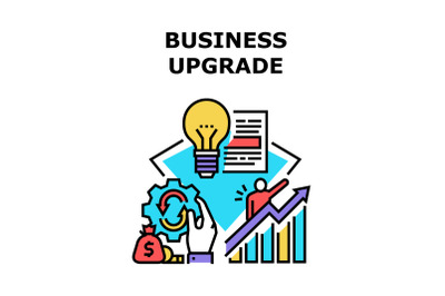 Business Upgrade Vector Concept Color Illustration