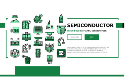 Semiconductor Manufacturing Plant Landing Header Vector