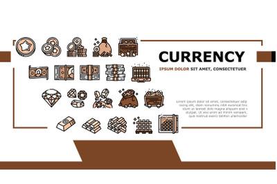 Currency Video Games Landing Header Vector