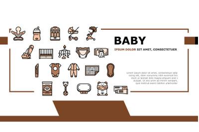 Baby Shop Selling Tool Landing Header Vector