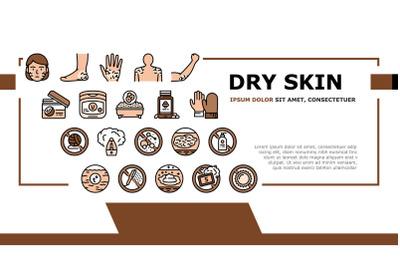 Dry Skin Treatment Landing Header Vector