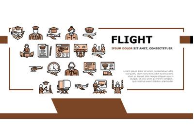 Flight School Educate Landing Header Vector