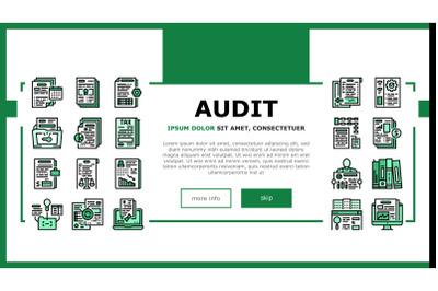 Business Finance Audit Landing Header Vector