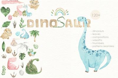Dinosaurs cute illustration