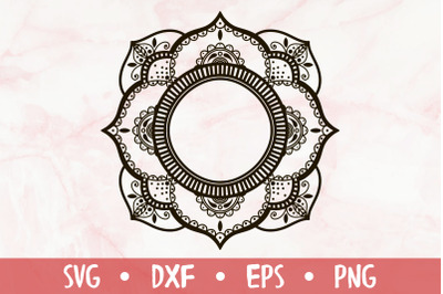 Ornamental mandala SVG
