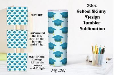 20oz School Skinny Design Tumbler Sublimation PNG and JPEG files. 20 o