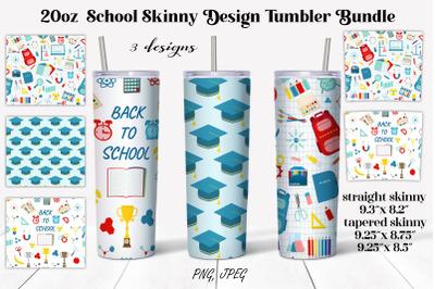 20oz School Skinny Design Tumbler Sublimation bundle. 20 oz skinny Tum