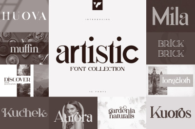 Artistic Font Collection - 15 fonts