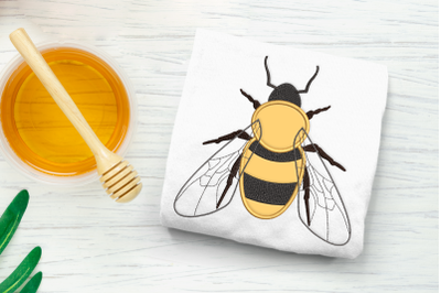 Realistic Bee | Applique Embroidery