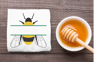 Realistic Bee Split | Embroidery