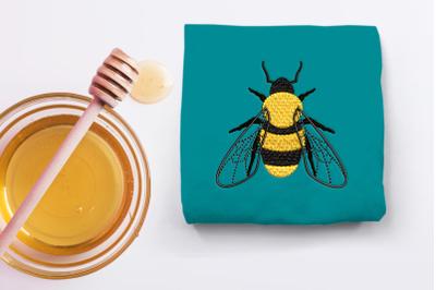 Mini Realistic Bee | Embroidery
