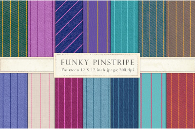 Colored pinstripes digital paper
