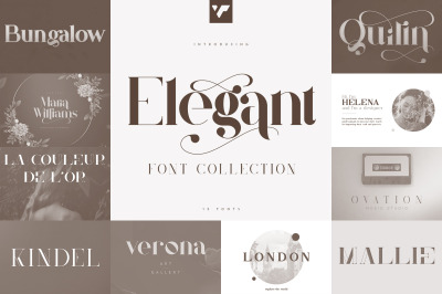 Elegant Font Collection - 15 fonts
