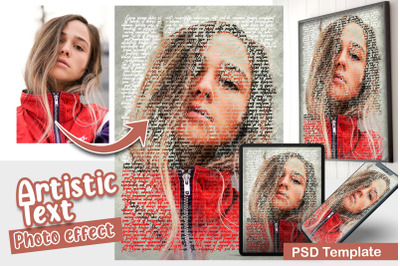 Artistic Text Photo Template