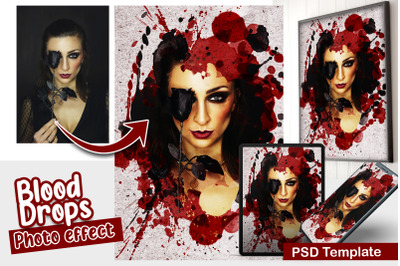Blood Drops Photo Template