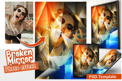 Broken Mirror Photo Template