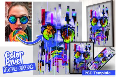 Color Pixel Photo Template
