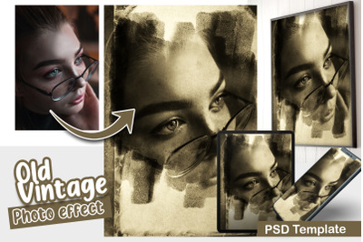 Old Vintage Photo Template