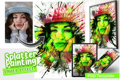 Splatter Painting Photo Template