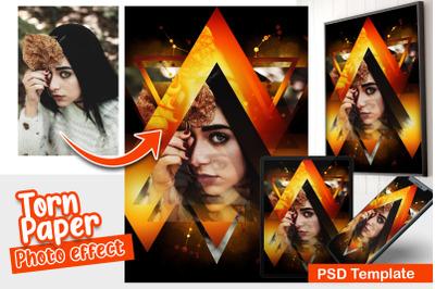 Triangle Art Photo Template