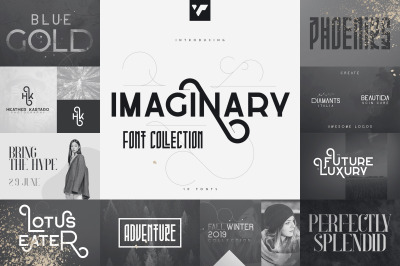 Imaginary Font Collection - 10 fonts