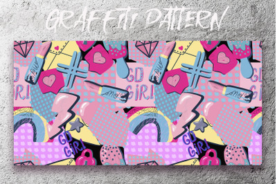 Graffiti pattern. Urban lifestyle. Vector, jpeg, png.