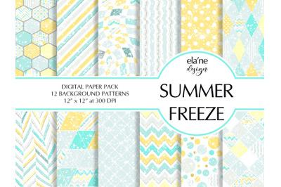 Summer Freeze Digital Paper Pack