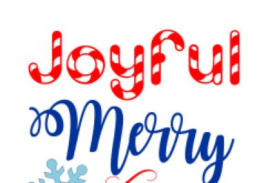 Joyful Snowflake Svg Eps Png File