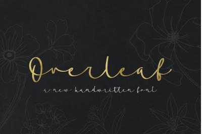 Overleaf Script Font (Calligraphy Fonts, Handwritten Fonts, Handwriting Fonts)