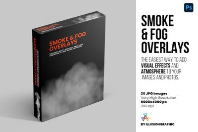 Smoke & Fog Overlays - 20 JPG