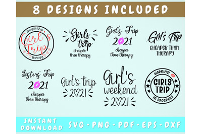 Girls Trip Cheaper Than Therapy SVG, Girls Trip 2021 SVG