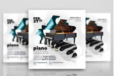 Piano Concert Music Flyer