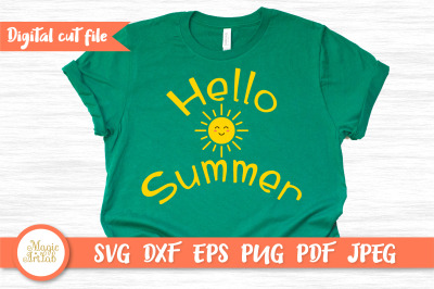 Hello summer t-shirt design, Summer svg