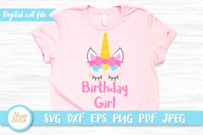 Unicorn birthday girl, Birthday t-shirt design