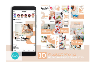 Product Promo Instagram Post Design Template For Canva