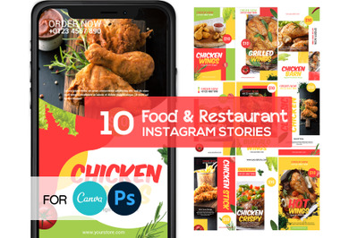 Chicken Food Instagram Story Template