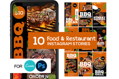 BBQ Food Instagram Story Template
