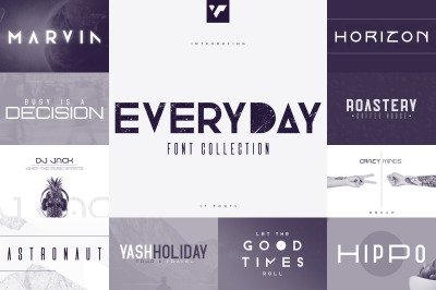 Everyday Font Collection - 17 fonts
