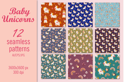 Baby Unicorns - pattern